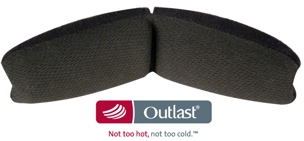 Outlast Head Pad close up with logo